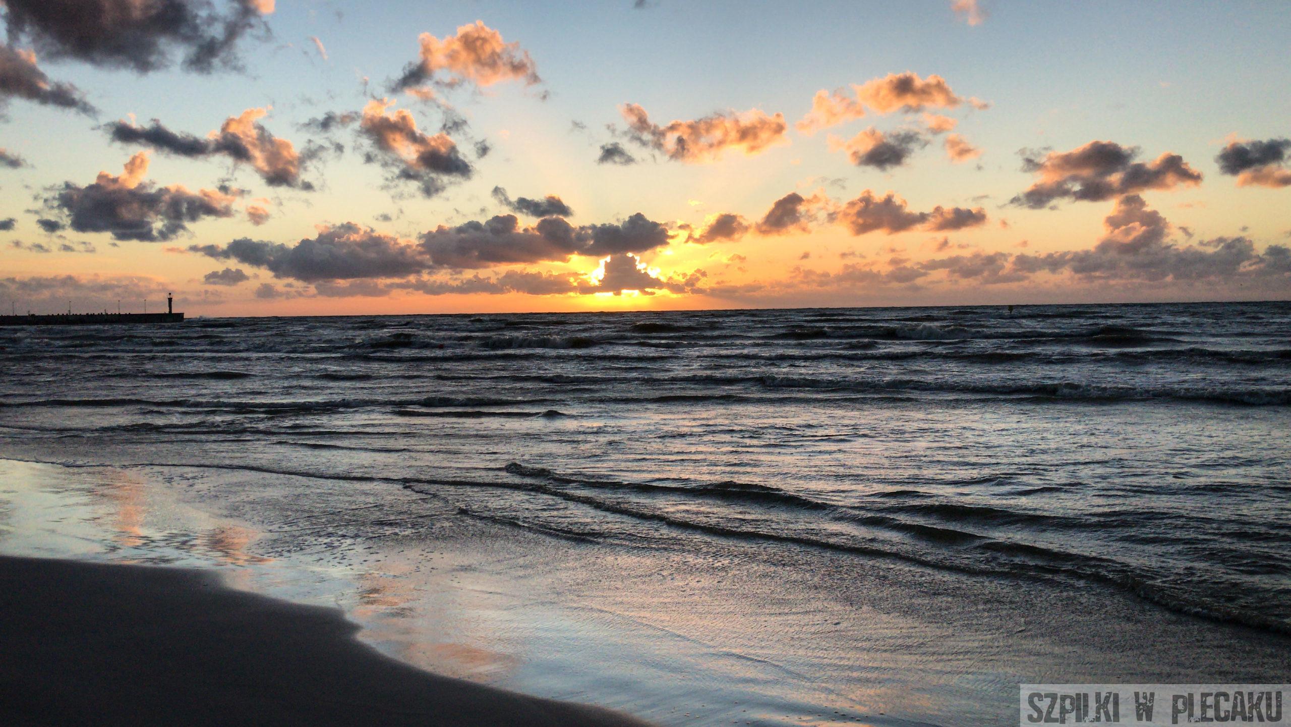 Łeba - Zachód słońca
