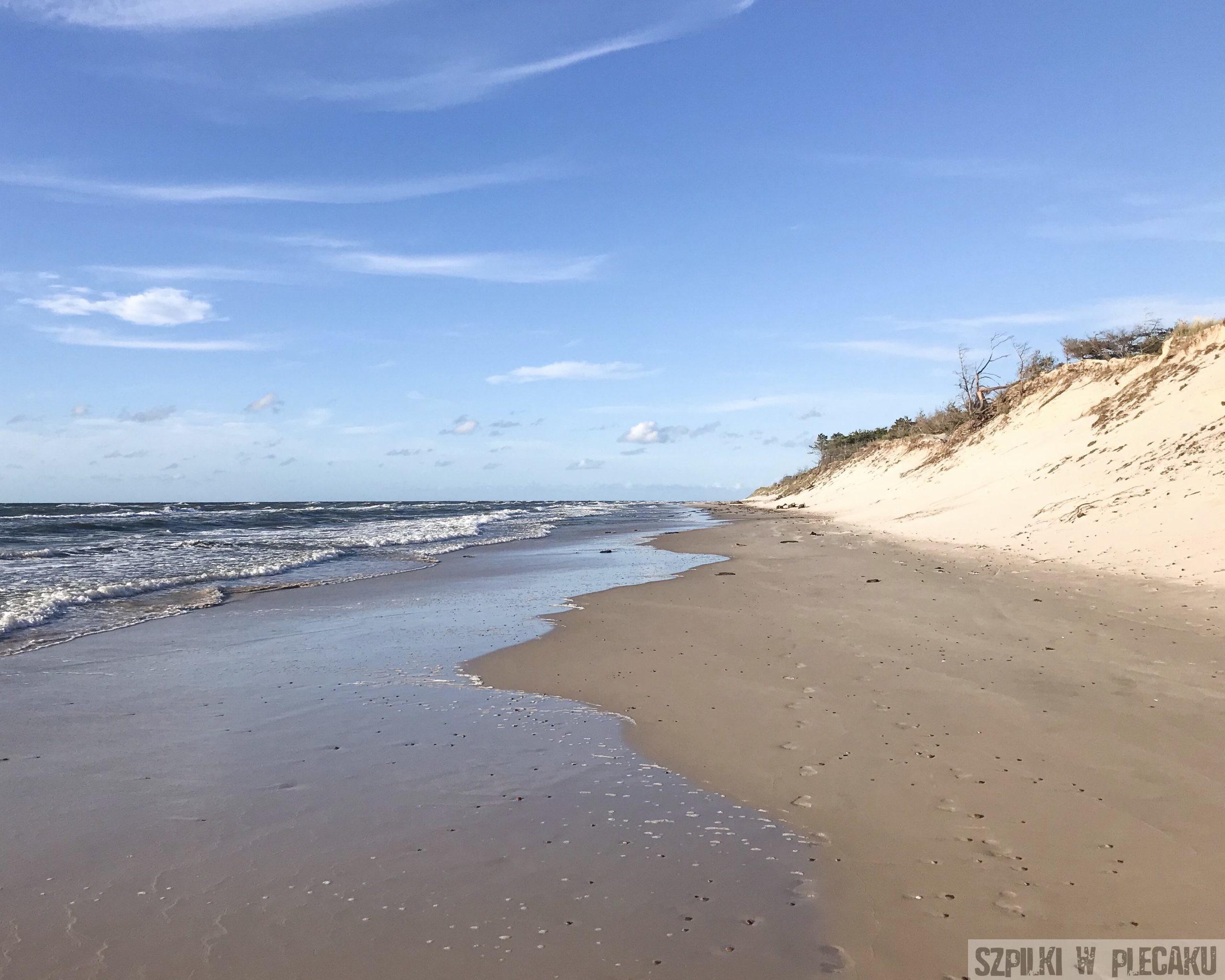 dzika plaża - Słowiński Park Narodowy