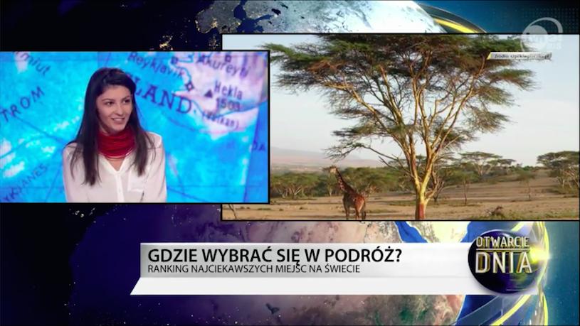 TVN24 BiŚ – Cztery najciekawsze miejsca świata – autorski ranking podróżniczki