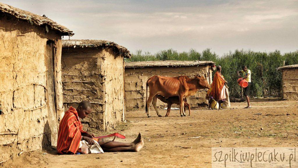 panorama wioski Masajów Szpilki w plecaku - Ewa Chojnowska