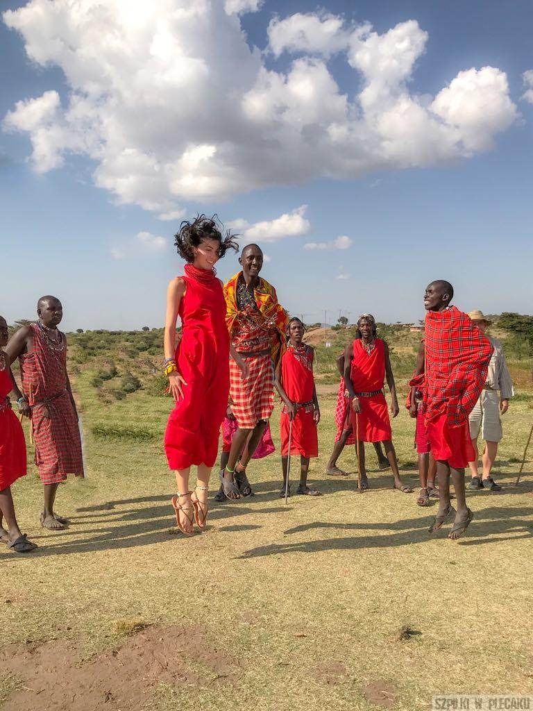 taniec podskoki Masajów