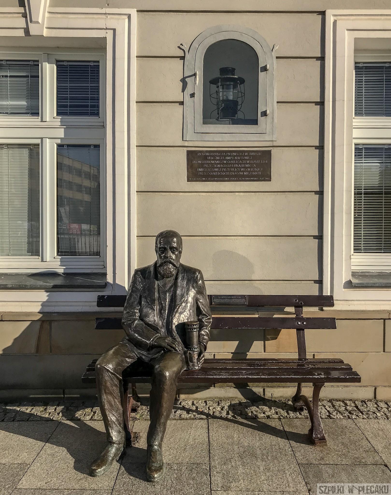 Ławeczka Łukasiewicza w Gorlicach