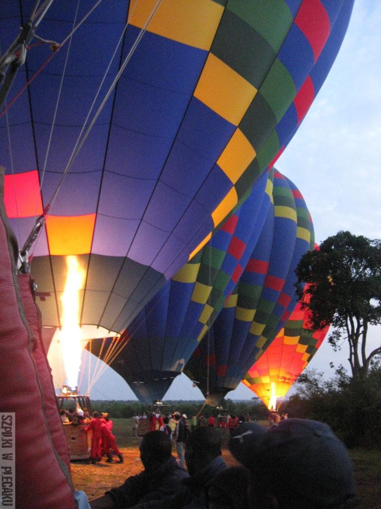 przygotowanie do lotu balonem