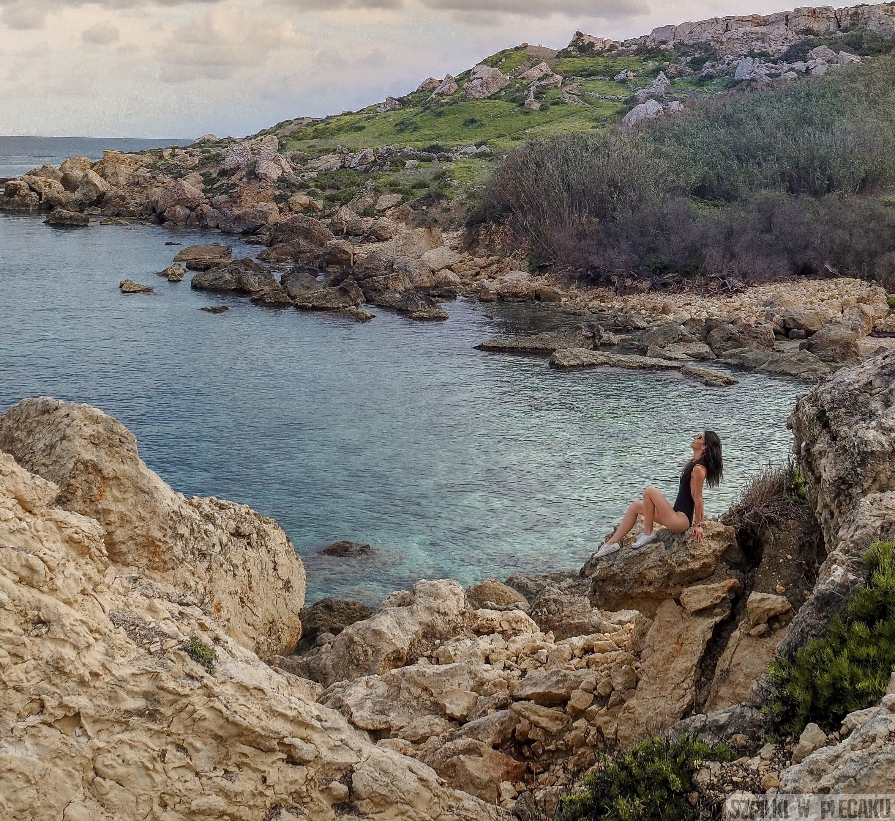 dzika plaża - Malta