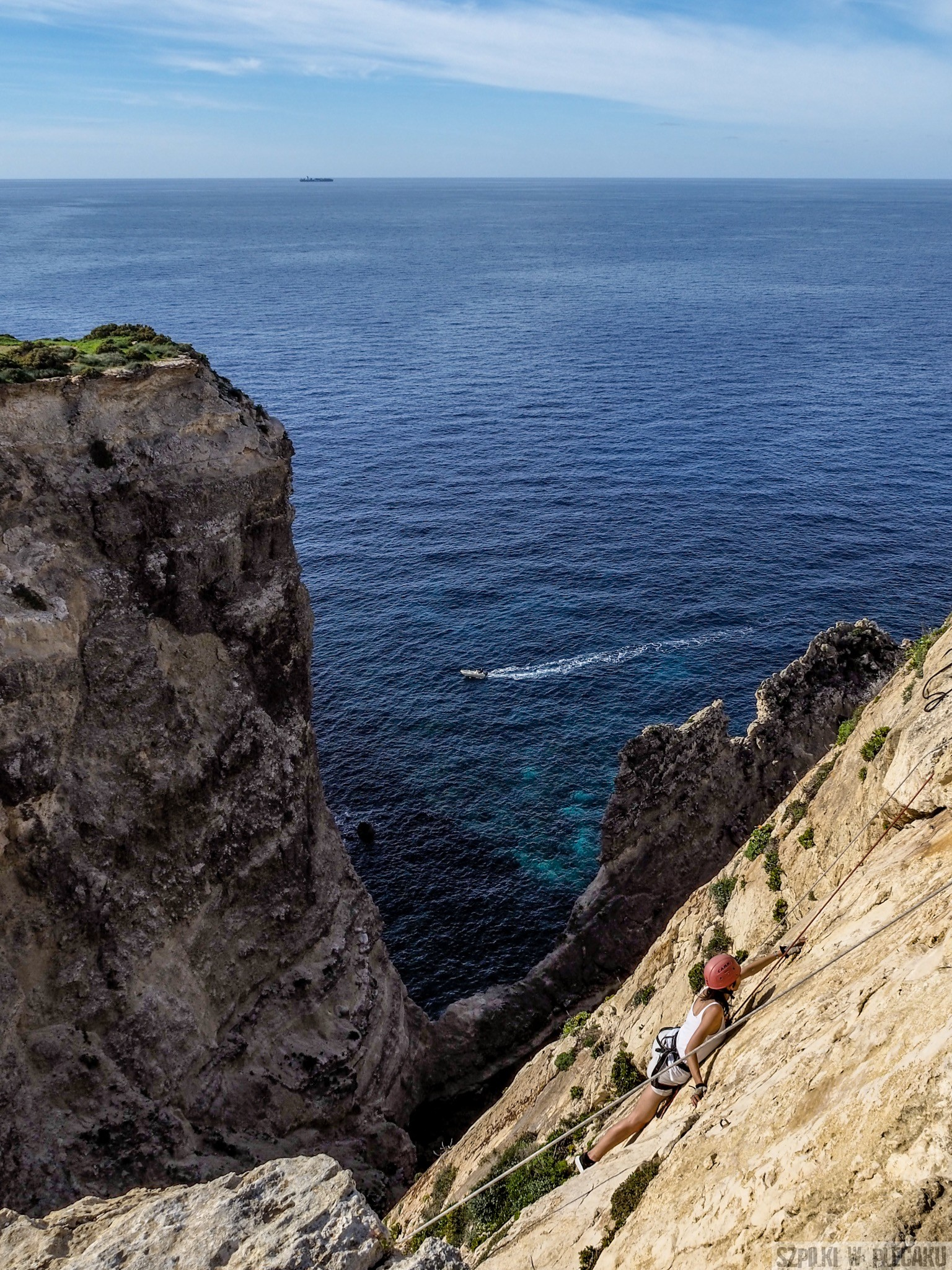 wspinacka Xaqqa cliffs z góry