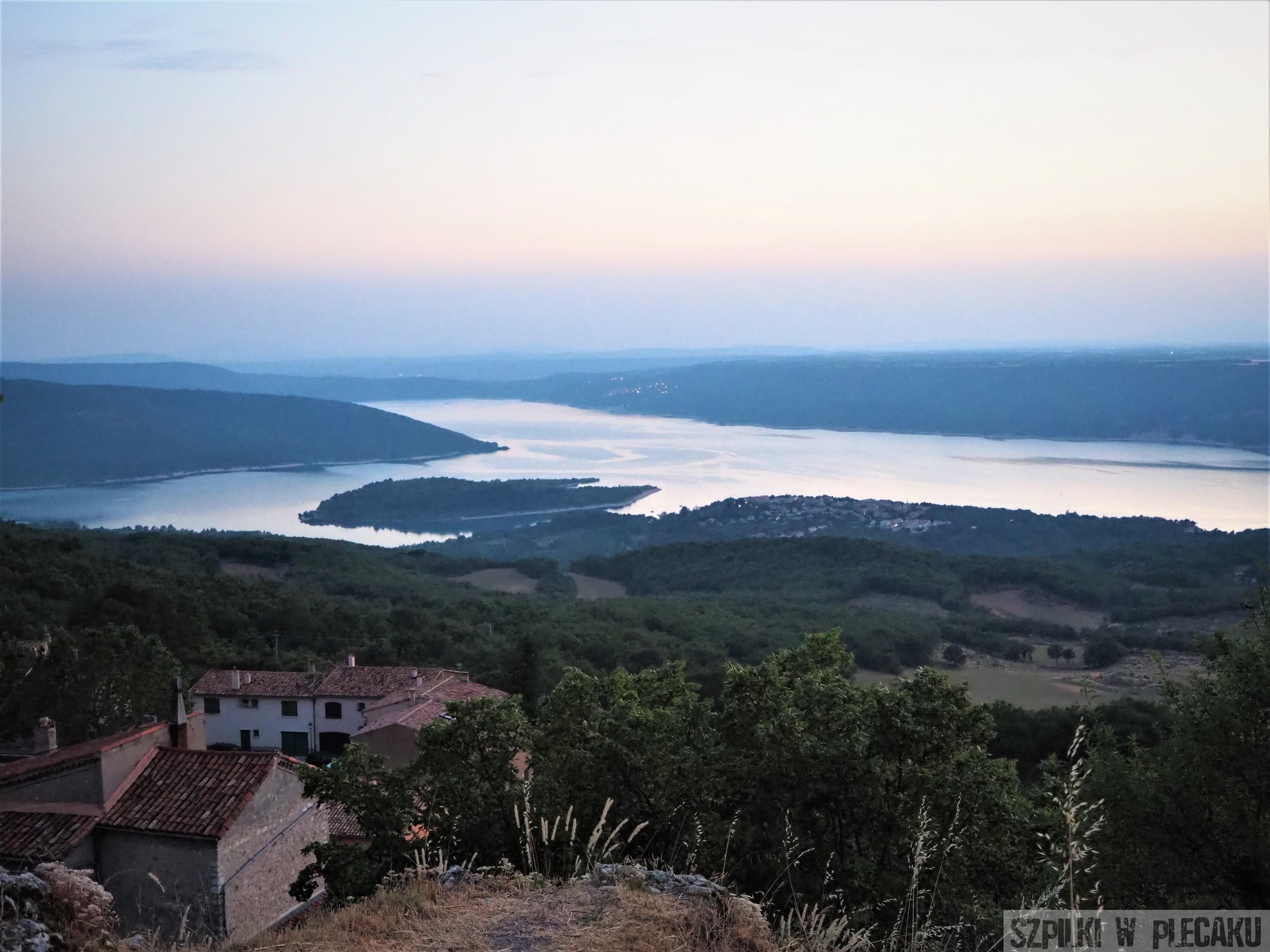 widok na jezioro Saint-Croix