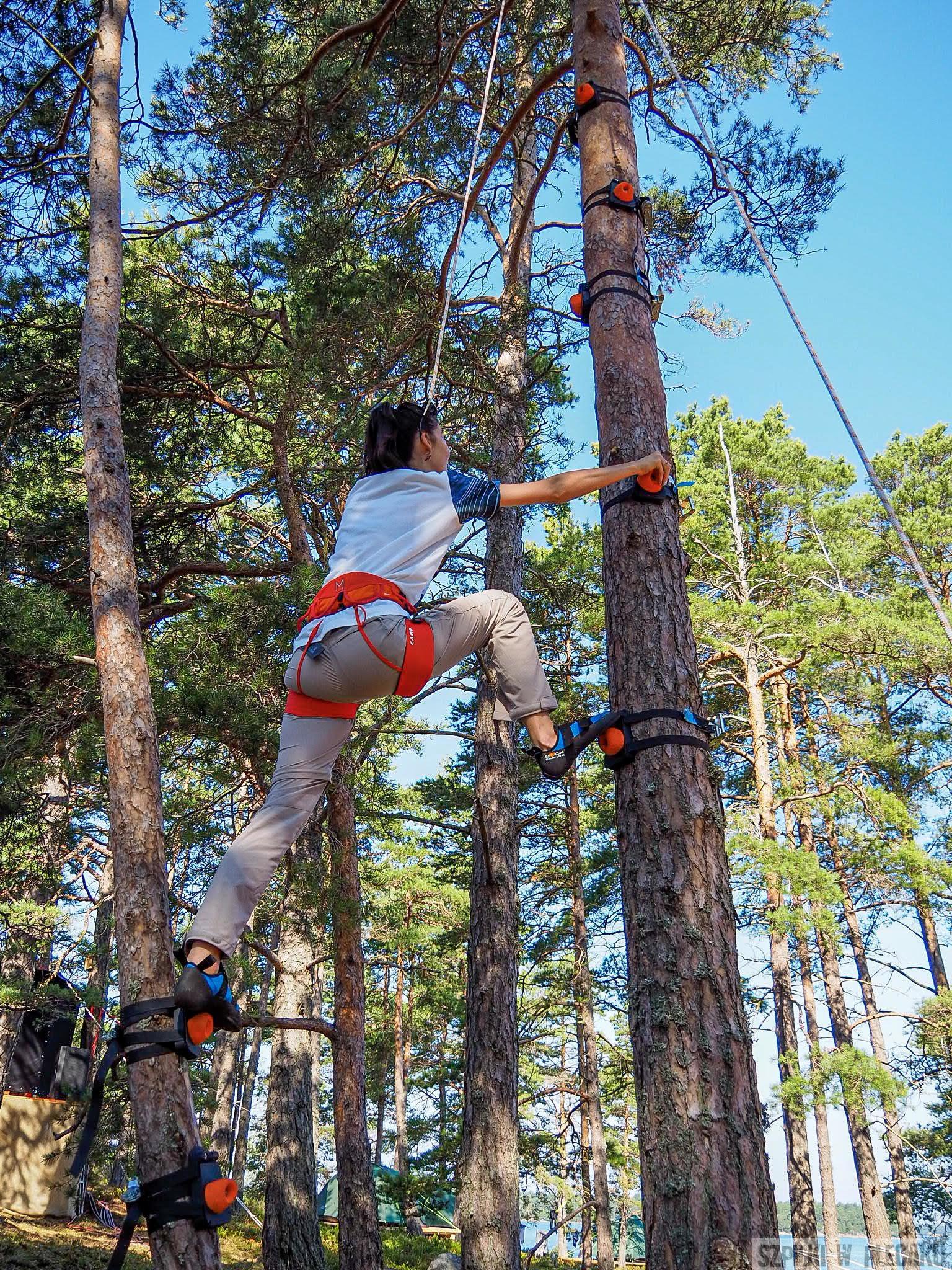 #gobackpack camp - Szpilki w plecaku - Szwecja - monkey climbing