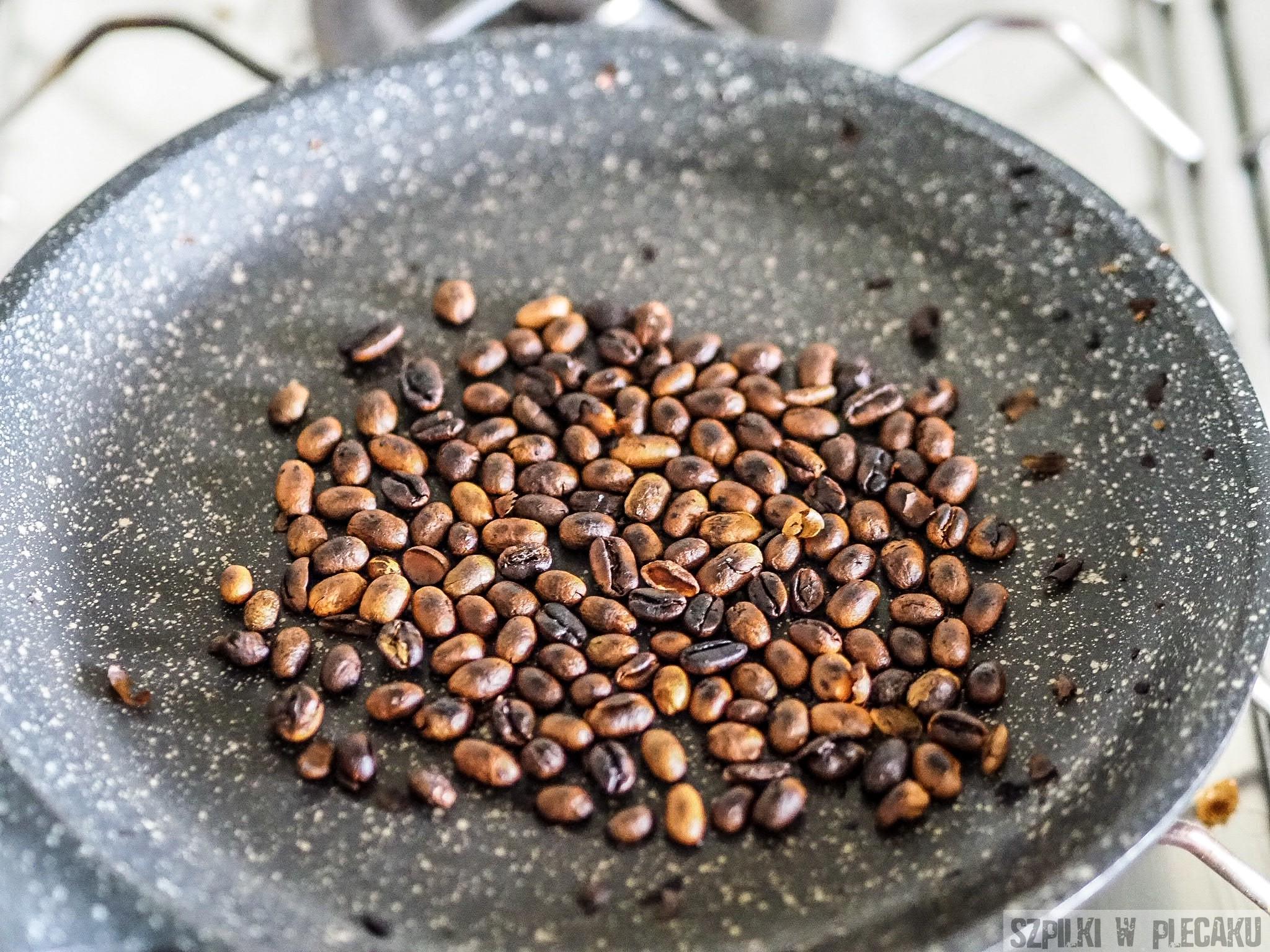 Palenie kawy etiopskiej etap 2