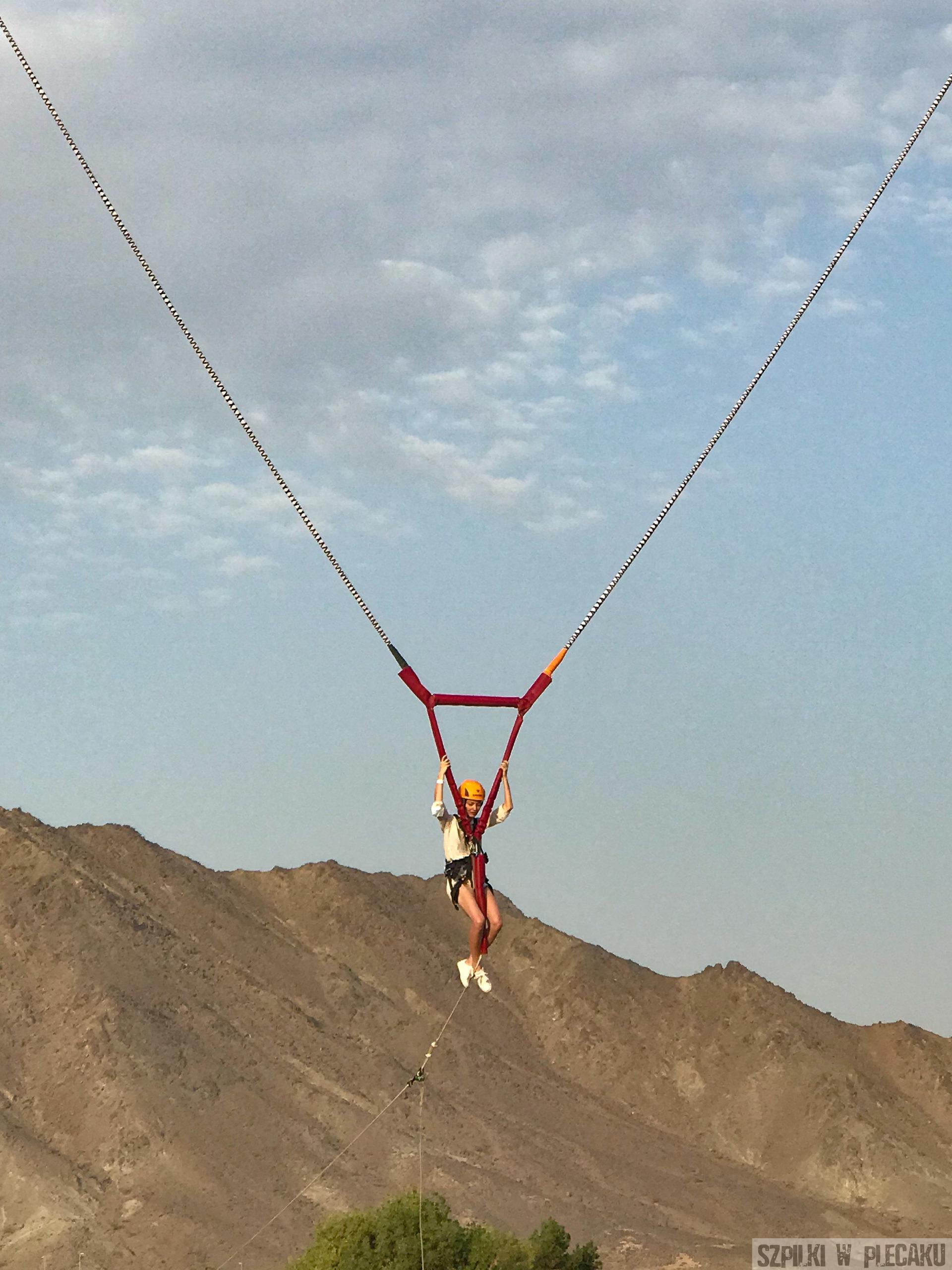 Ludzka proca - cannon - Dubaj inaczej z przygodą i adrenaliną - Szpilki w plecaku