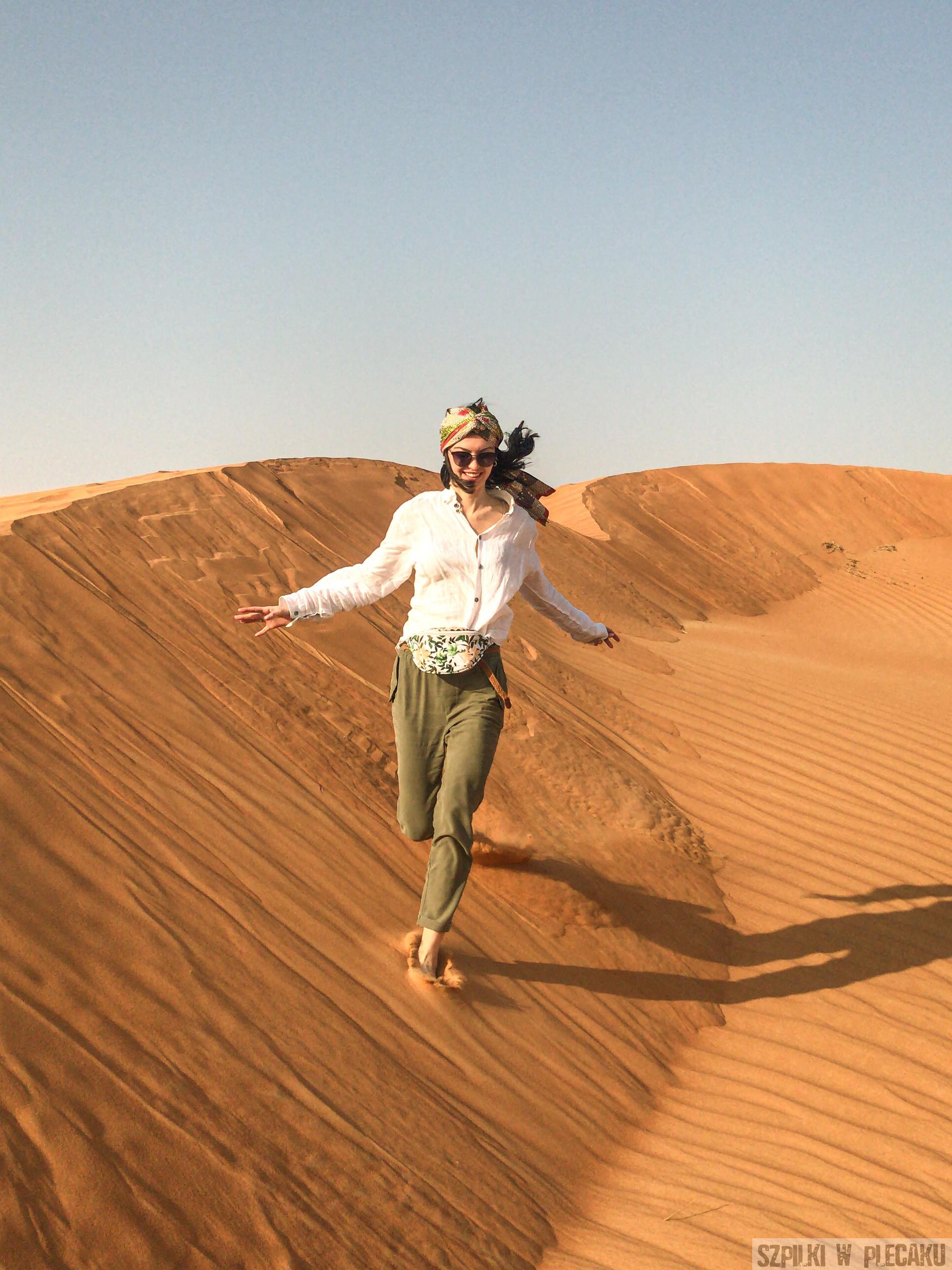 Pustynia w Dubaju - Dubaj inaczej z przygodą i adrenaliną - Szpilki w plecaku