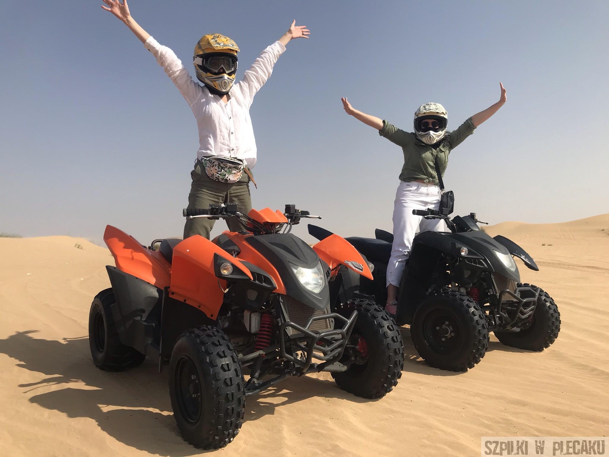 Quad safari Dubaj inaczej z przygodą i adrenaliną - Szpilki w plecaku