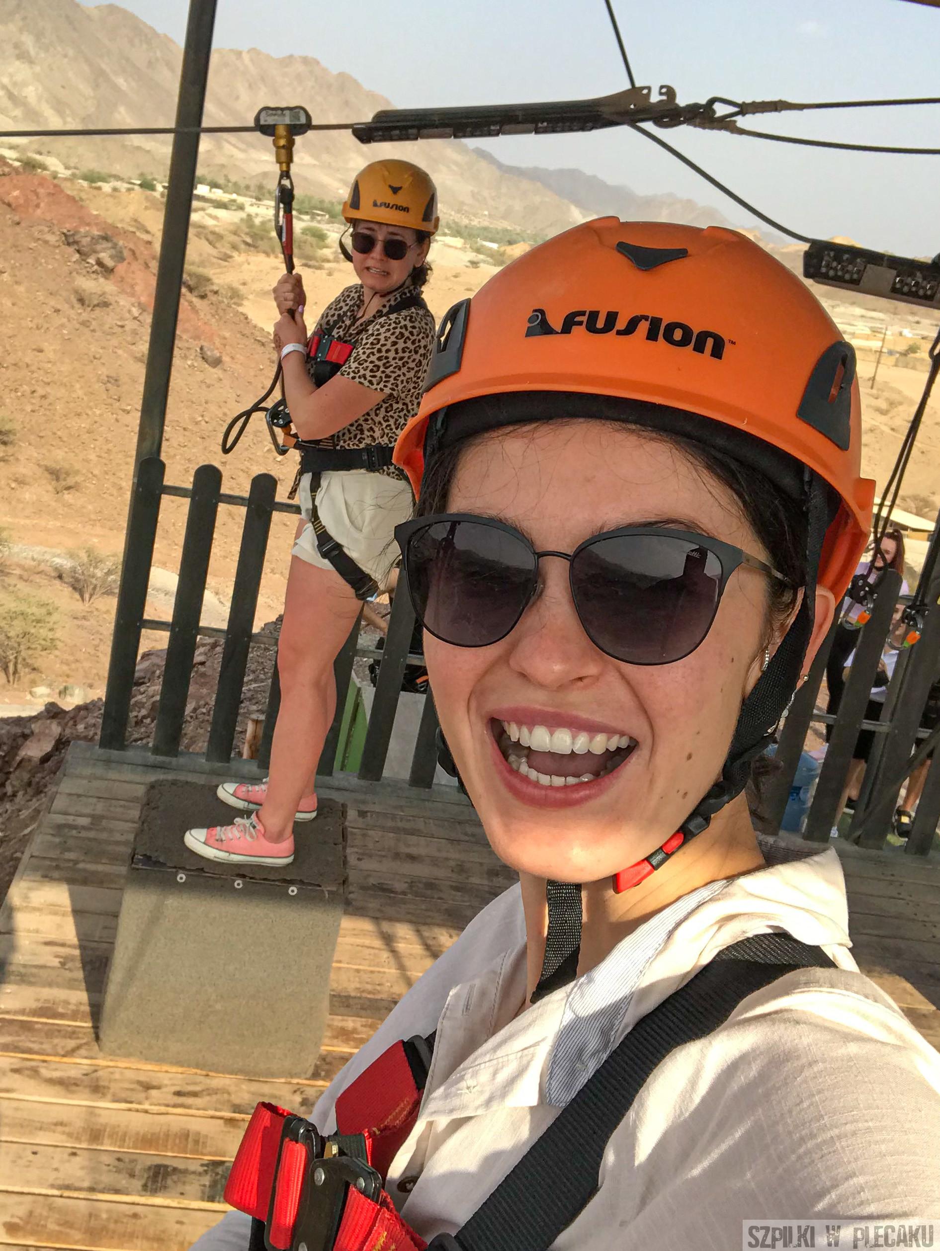 Tyrolka - zipline - Dubaj inaczej z przygodą i adrenaliną - Szpilki w plecaku
