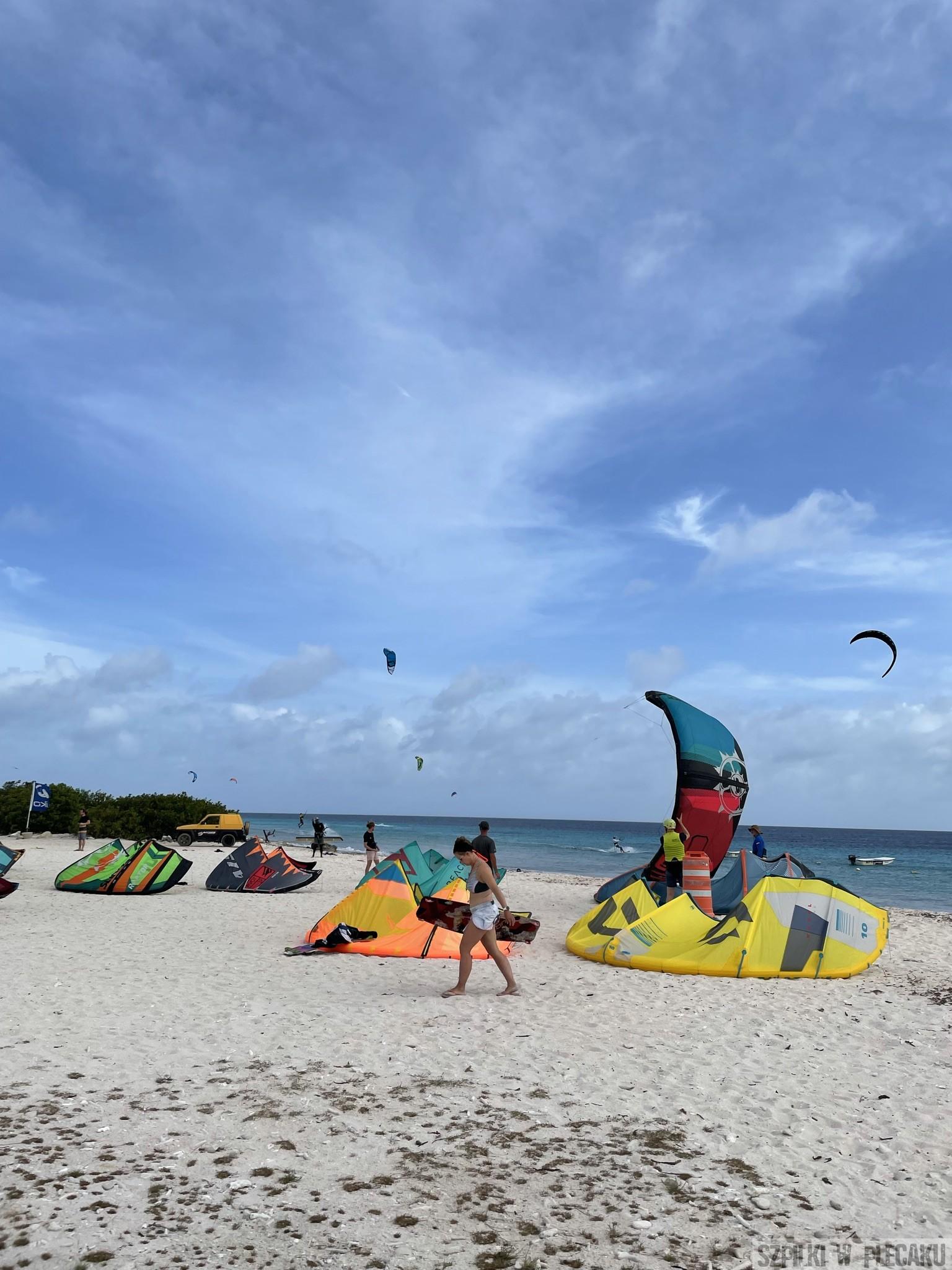 Bonaire surfing windsurfing kitesurfing - szpilki w plecaku