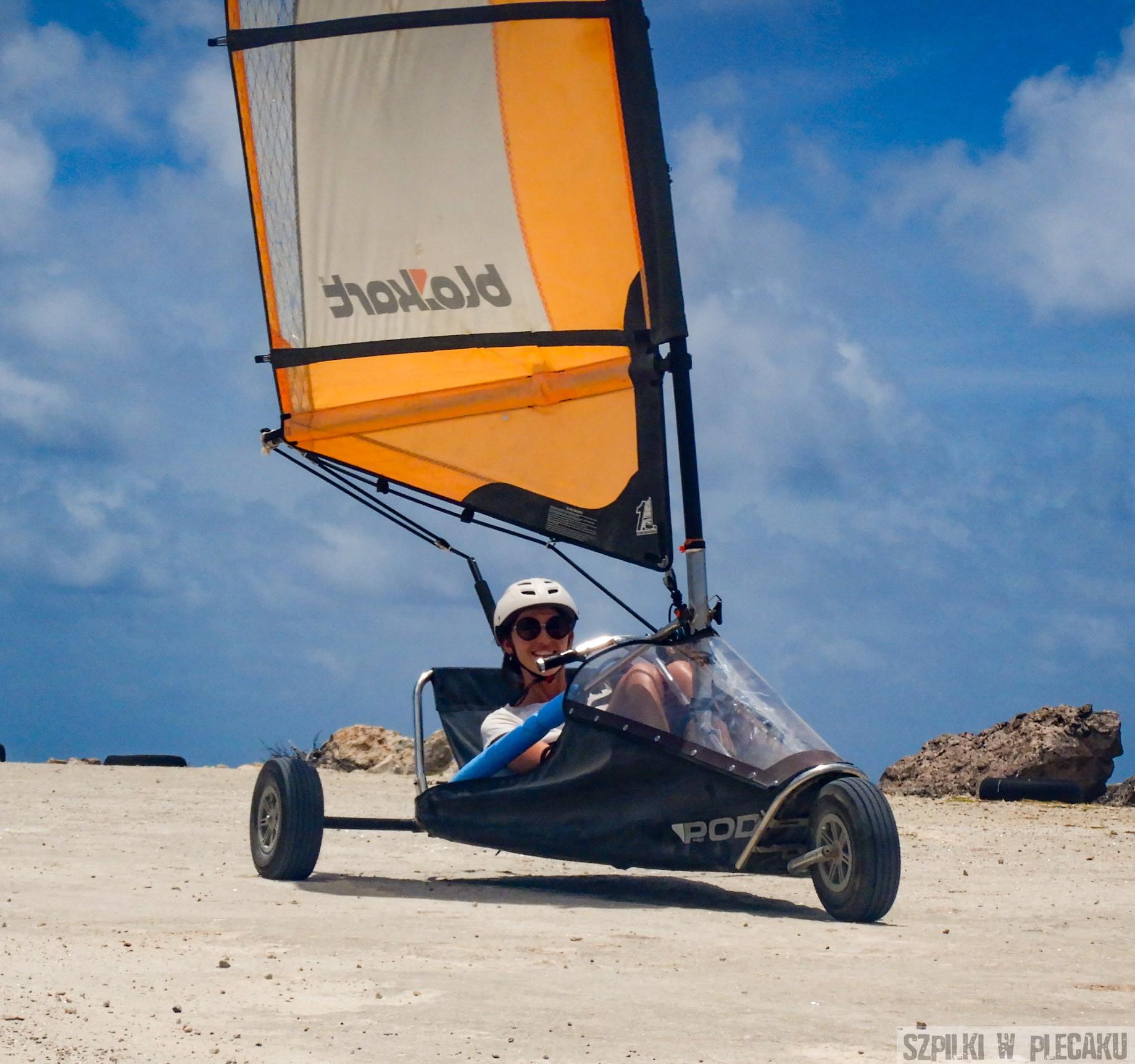 landsailing - Bonaire - Szpilki w plecaku